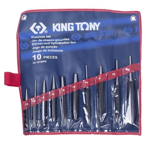 KING TONY (1010PR) Набор выколоток, бородков, кернеров, 10 предметов
