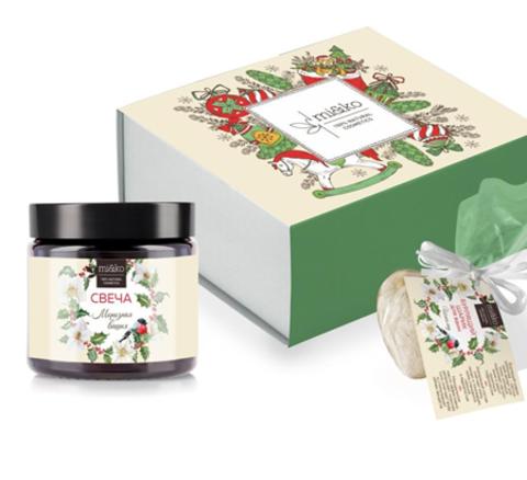 Новогодний подарочный набор Морозная вишня малый