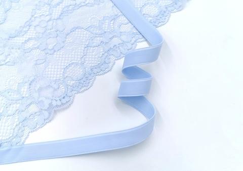 Бретелечная резинка без фестонов, 15 мм, светло-голубая, (Арт: B640/15-1454), м
