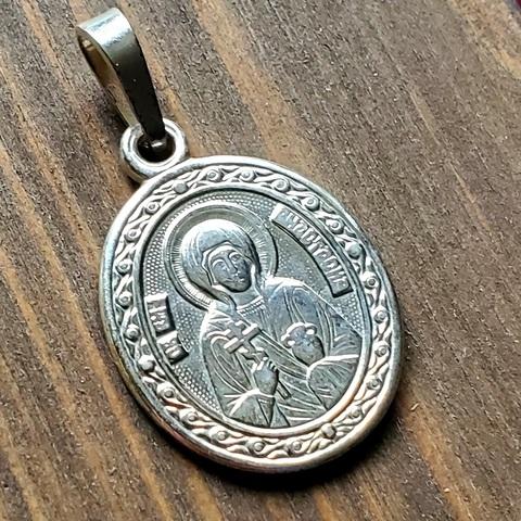 Нательная именная икона святая Анастасия с серебрением