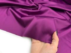 Атлас-стрейч фиолетовый, Италия (метражом)