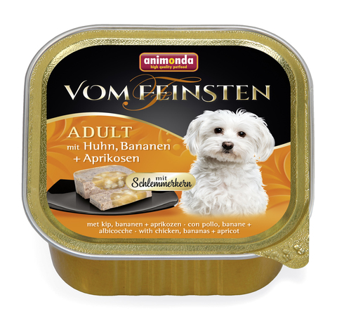 Консервы Animonda Vom Feinsten Adult Меню для гурманов с курицей, бананом и абрикосами для взрослых собак