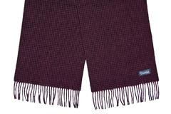 Шерстяной шарф, мужской бордовый 31531
