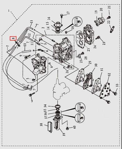 Защелка для лодочного мотора T9.8 Sea-PRO (2-8)