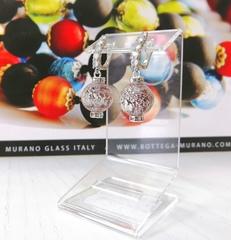 Серьги из муранского стекла со стразами Franchesca Ca'D'oro Medio Light Amethyst 040OB
