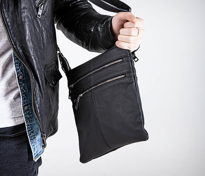 BAG538-1 Мужская сумка планшет с ремнем через плечо фото 02
