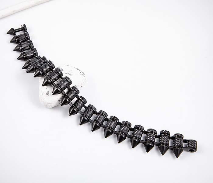 BM554-2 Браслет «Пули» из ювелирной стали черного цвета фото 02