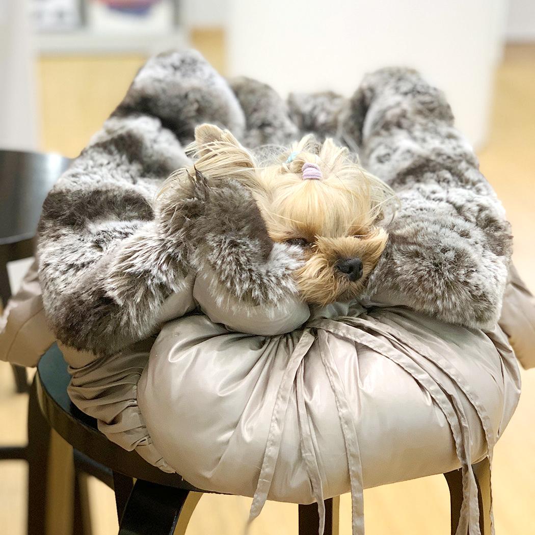 Зимняя сумка для собак трансформер