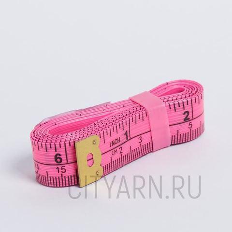 Сантиметровая лента 150см/60 дюймов, ярко-розовая