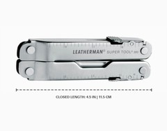 Мультитул Leatherman Super Tool 300, кожаный чехол, 19 функций (831183)    Multitool-Leatherman.Ru