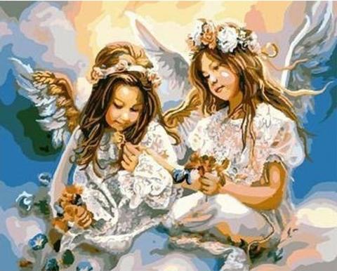 Алмазная Мозаика 20x30 Маленькие ангелочки (арт. TC3324)