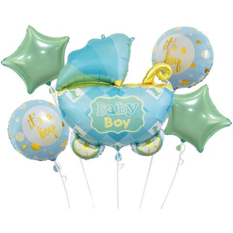 Набор шаров на выписку мальчика Колясочка