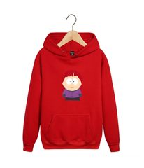 Толстовка красная с капюшоном (худи, кенгуру) и принтом Южный парк (South Park) 001
