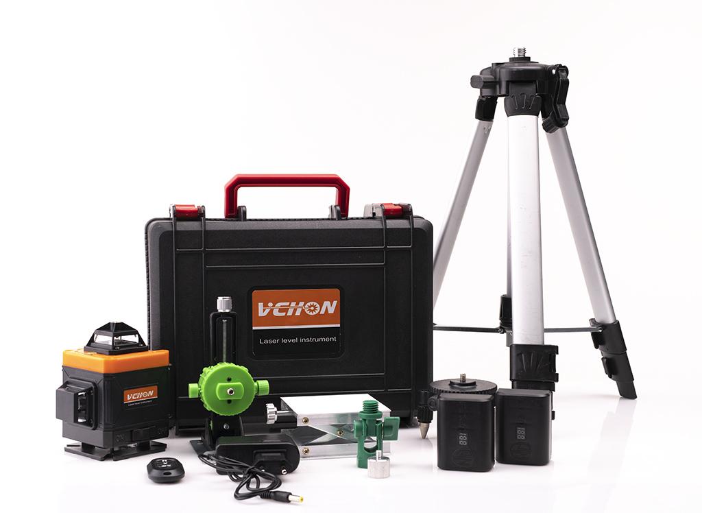 Лазерные уровни VCHON Лазерный уровень 360° VCHON VC-5202  16 зеленых лучей (верхний и нижний горизонт) + штатив 1,2 метра 33.jpg