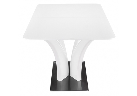 Стеклянный стол кухонный, обеденный, для гостиной Horns 120 super white 80*80*76 Super white