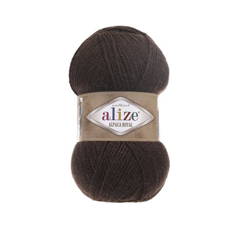 Пряжа Alize Alpaca Royal шоколад 201