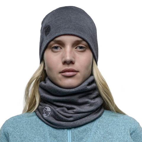 Теплый шерстяной шарф-труба Buff Grey фото 2