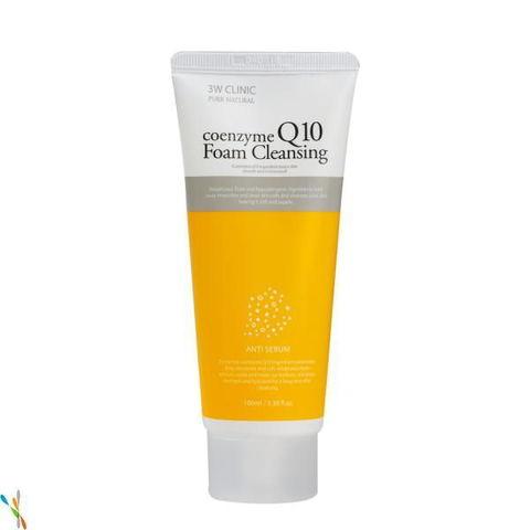 Пенка для умывания КОЭНЗИМ Q10 Coenzyme Q10 Foam Cleansing, 100 мл 3W CLINIC