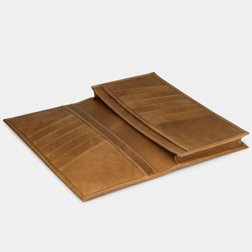 Длинный кошелек Lingot Easy из натуральной кожи теленка, цвета винтаж