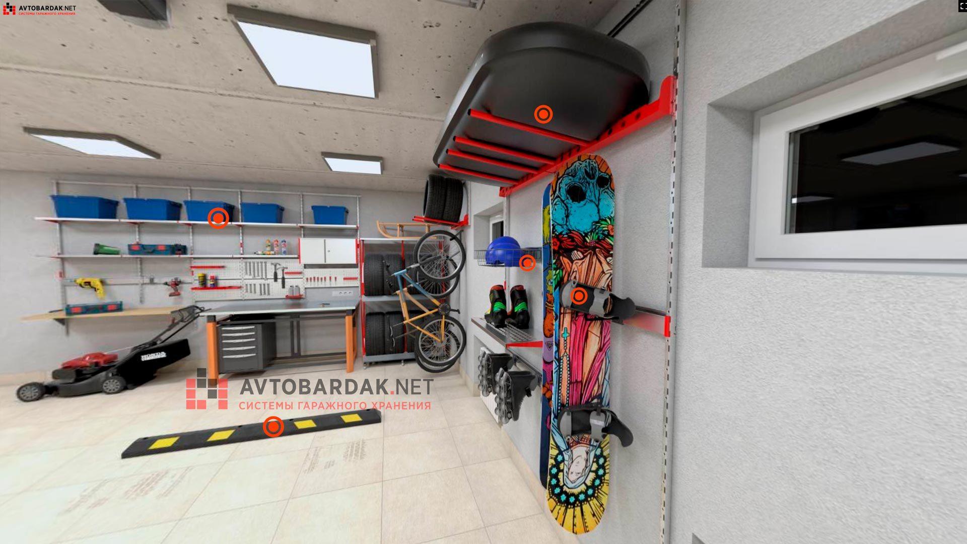 VR проект №1: гараж 44 кв м (6,6 х 6,6 м).