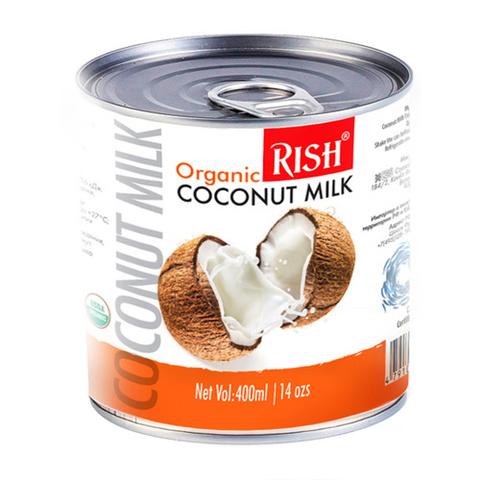 Rish, Органическое кокосовое молоко 68%, жирность 17-19%), 400мл