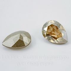 4320 Ювелирные стразы Сваровски Капля Crystal Golden Shadow (14х10 мм)