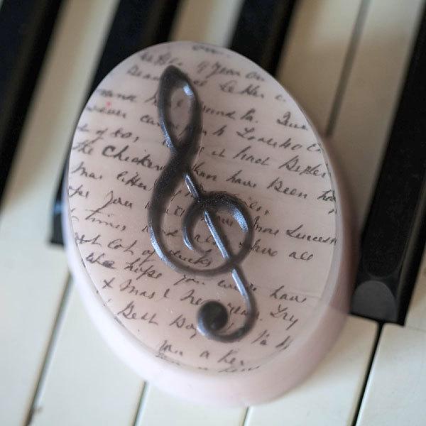Мыло Скрипичный ключ. Пластиковая форма