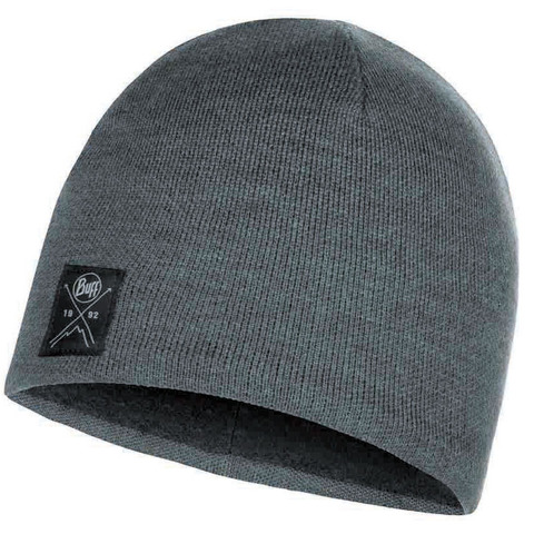 Шапка вязаная с флисом Buff Hat Knitted Polar Solid Grey фото 1