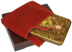Инкрустированная Икона Святой мученик Виктор Дамасский 20х15см на натуральном дереве, в подарочной коробке