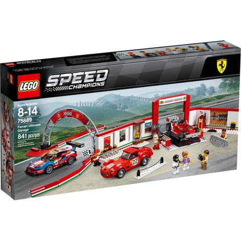 LEGO Speed Champions: Уникальный гараж Ferrari 75889 — Ferrari Garage 250 GTO, 488 GT — Лего Спид чампионс Чемпионы скорости