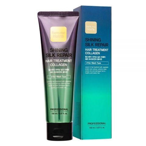 Увлажняющая маска для сияния и блеска волос с коллагеном FARMSTAY Shining Silk Repair Hair Treatment