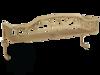 Решетка одинарная с 2-мя крючками Migliore Complementi H15xL40xP15 cm ML.COM-50.701