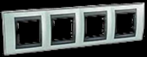 Рамка на 4 поста. Цвет Флюорит-графит. Schneider electric Unica Top. MGU66.008.294