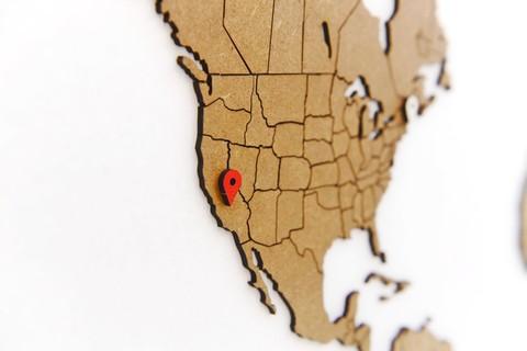 Карта мира World Map True Puzzle Brown 100х60 см
