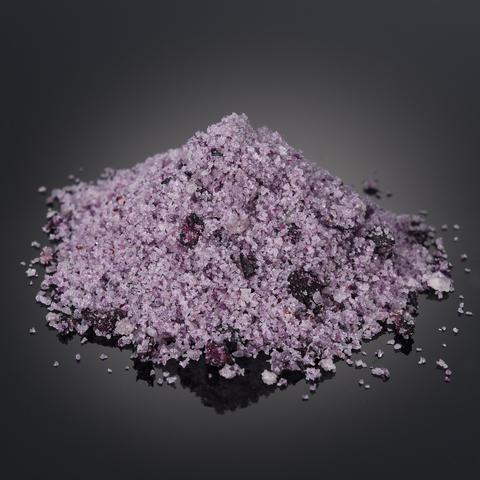 Salt with blueberry