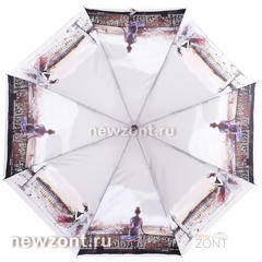Женский мини зонт складной легкий Ламберти романтичная леди