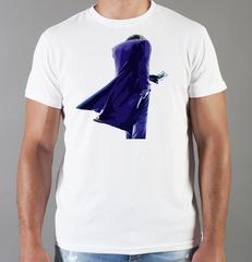 Футболка с принтом Джокер, Тёмный рыцарь (Joker, The Dark Knight, Хит Леджер) белая 0048