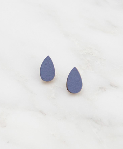 Серьги Raindrop Studs Blueberry