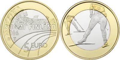 5 евро 2016 Финляндия - Лыжный спорт