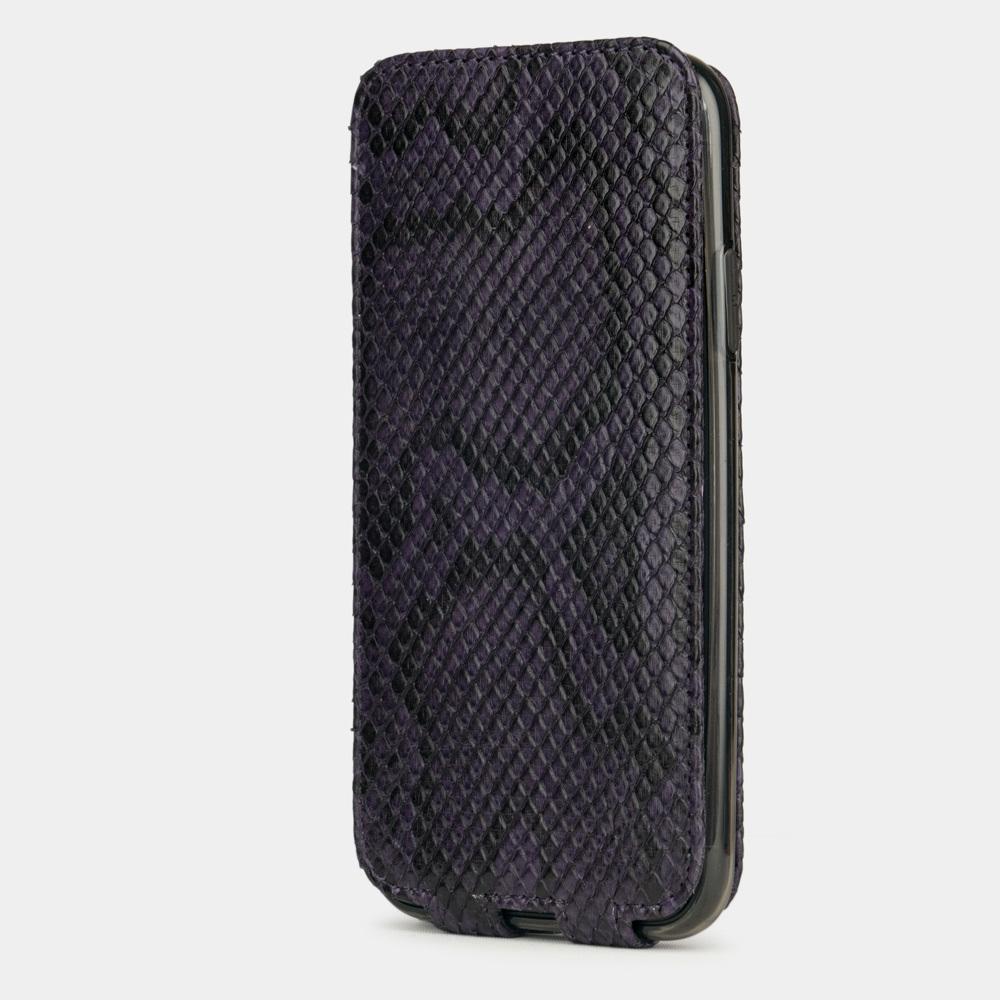Чехол для iPhone 11 из натуральной кожи питона, фиолетового цвета