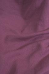 Ткань льняная, с эффектом мятости, цвет : брусника