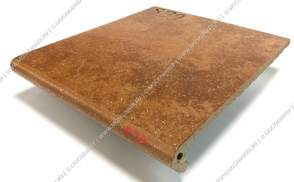 Stroeher - Keraplatte Roccia 839 ferro 340x294x12 артикул 9340 - Клинкерная ступень - флорентинер