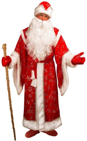 Костюм Деда Мороза Боярский красный