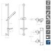 Душевая система с термостатом и тропическим душем для ванны DRAKO 339303AS - фото №2