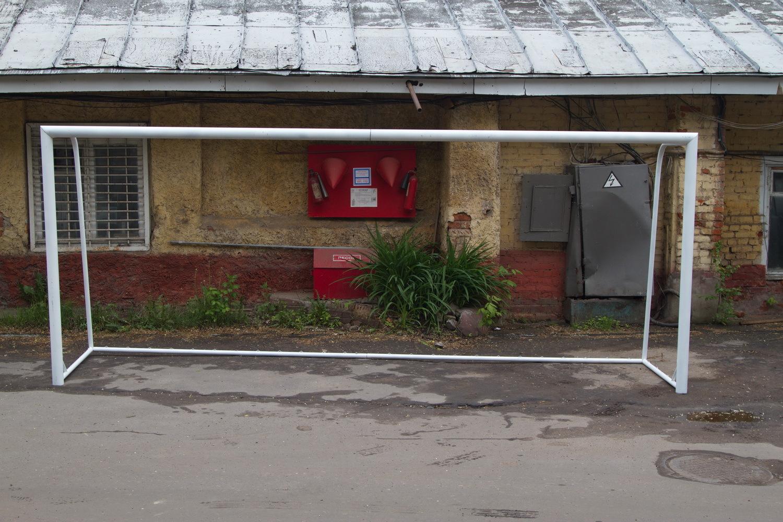 Ворота футбольные 5х2м сборно-разборные, стальные, профиль d=89мм.