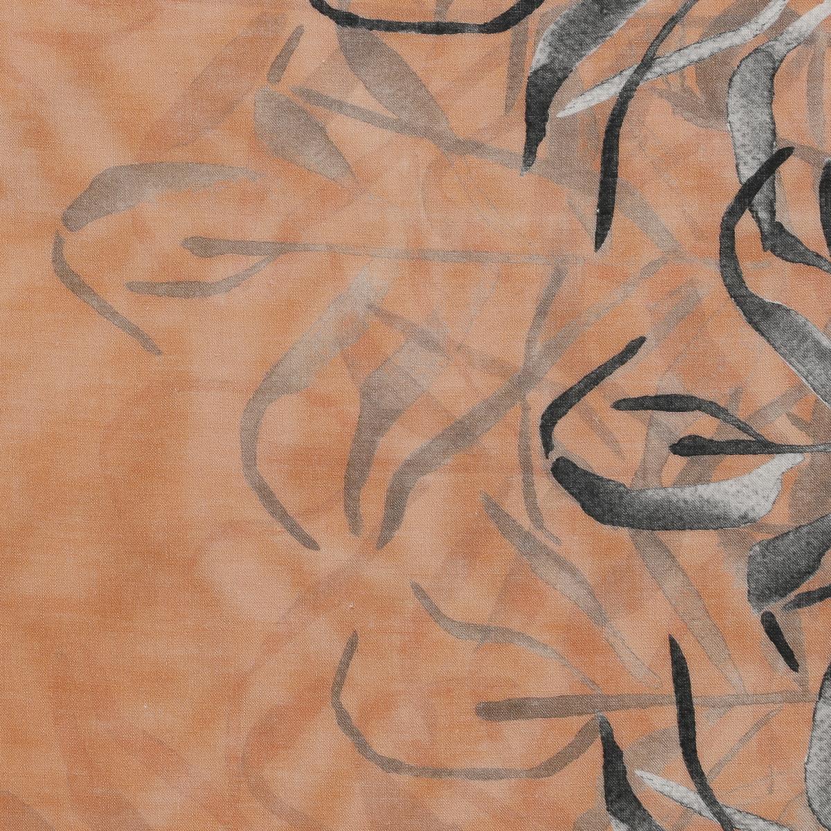 Тонкий лен в оранжевых оттенках