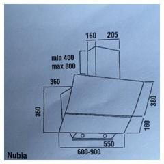 Вытяжка DACH NUBIA 60 black - схема