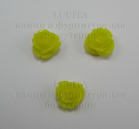 Кабошон акриловый  цветочек маленький желтый  7х5,5 мм ()