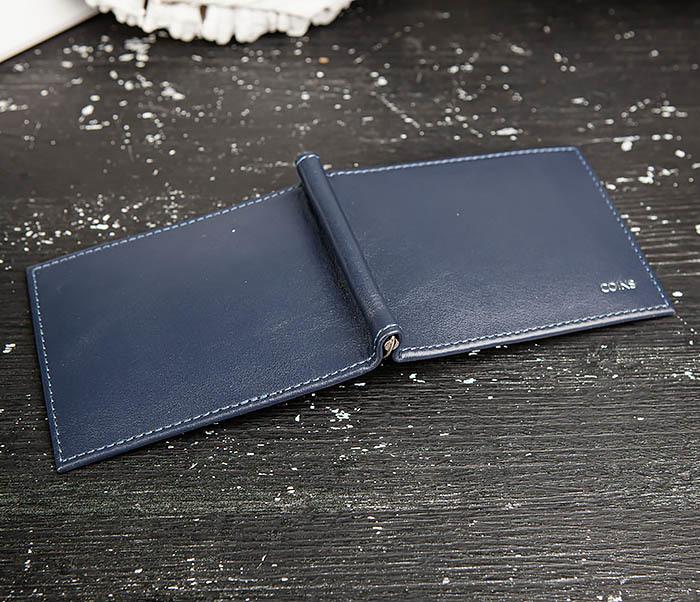 WL322-3 Кожаный зажим для купюр и карточек из кожи, «Moriz» фото 03