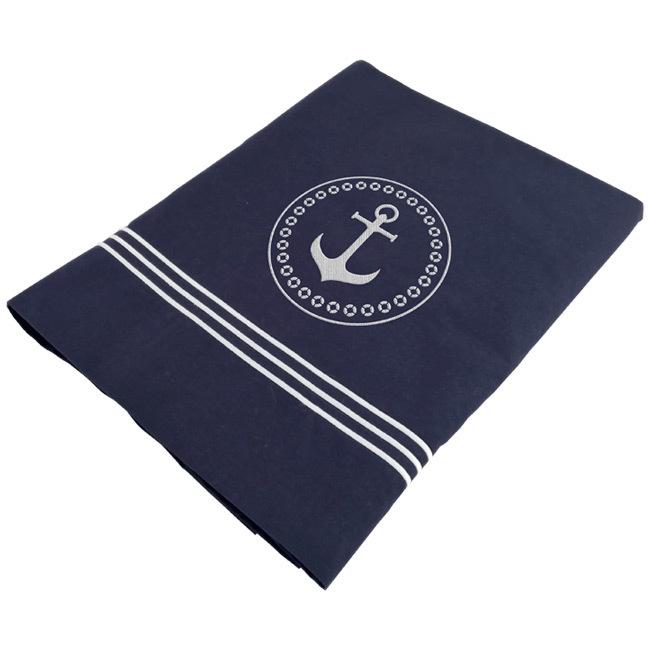 Santorini Savanna top sheet & pillowcase / double deep blue